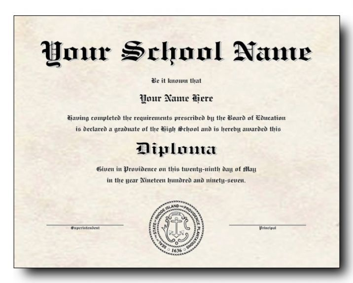 High school diploma template pdf