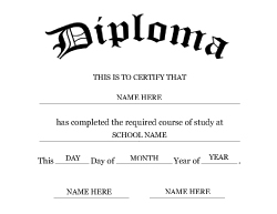 High School Diploma Template FREE DOWNLOAD - Free printable high school diploma templates