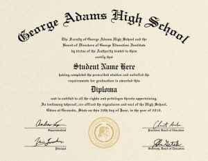 College diploma template